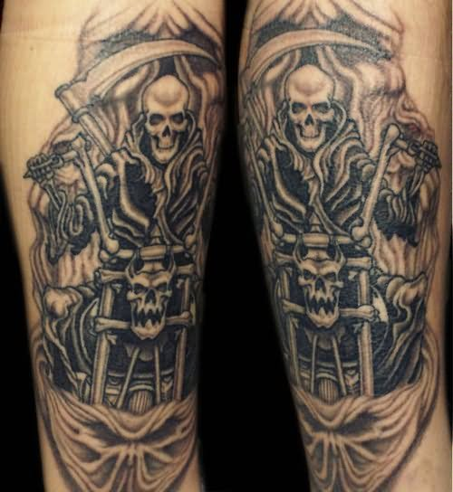 19 best motorcycle tattoo designs for Motorcycle tattoo sleeve