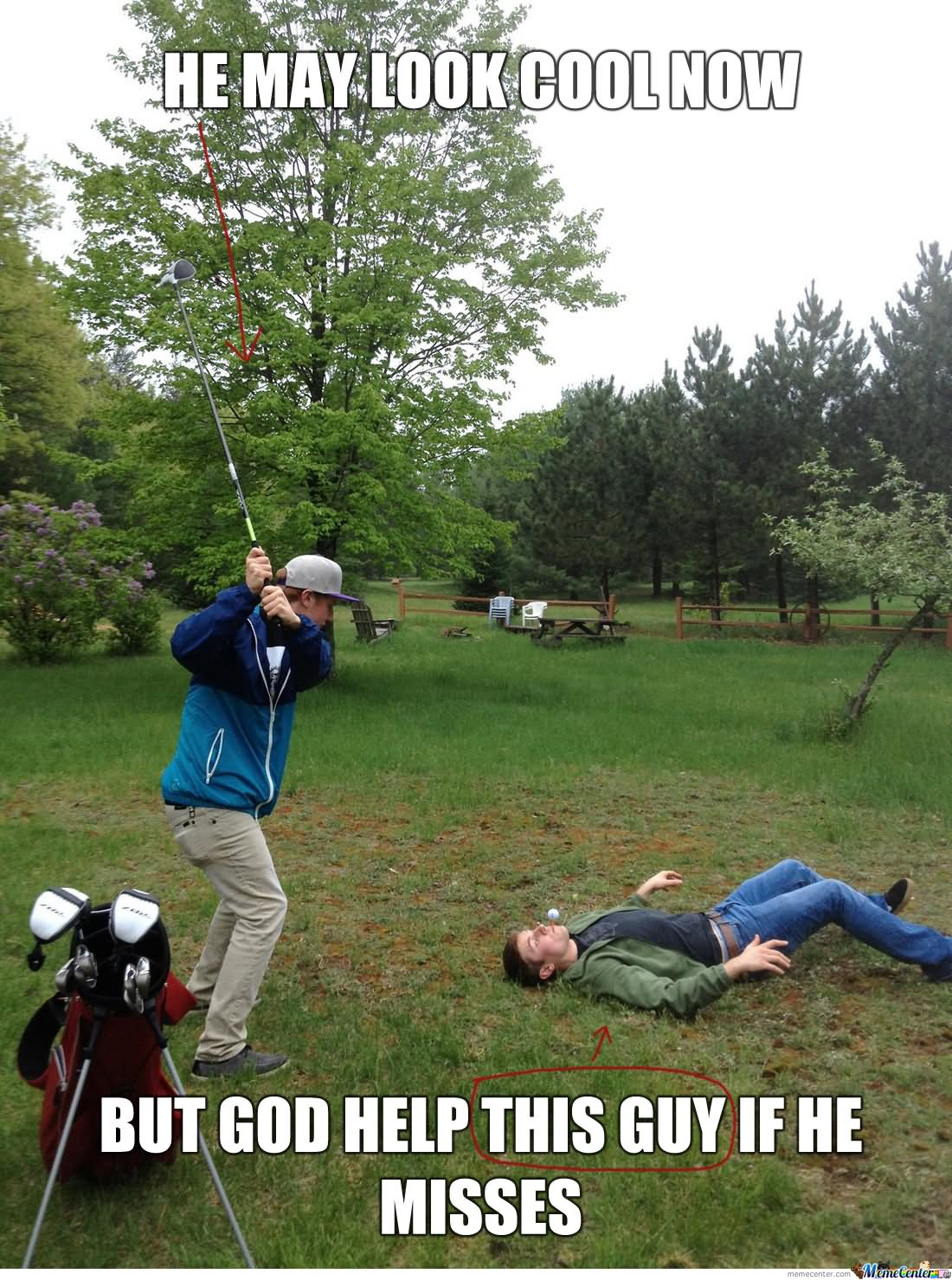 He May Look Cool Now But God Help This Guy If He Misses Funny Golf Meme Meme Picture For Facebook