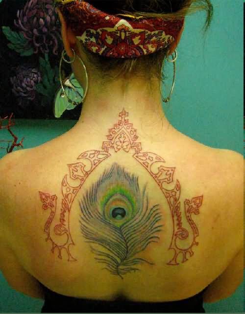 6 hippie tattoos on upper back. Black Bedroom Furniture Sets. Home Design Ideas