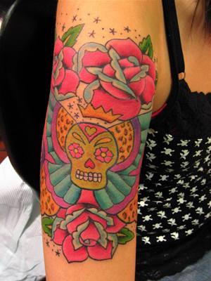 4 hippie tattoos on half sleeve. Black Bedroom Furniture Sets. Home Design Ideas