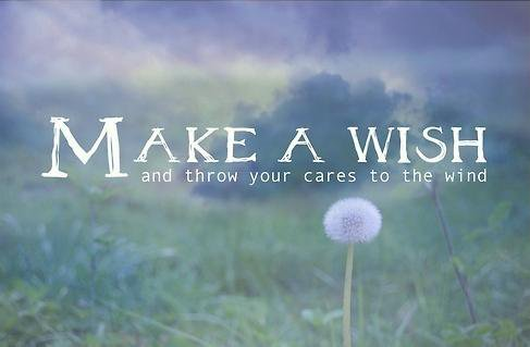 Make A Wish Quotes Custom Make A Wish And Throw Your Cares To The Wind.
