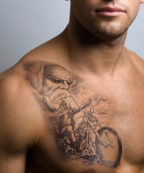 8 nice motorcycle tattoos on arm. Black Bedroom Furniture Sets. Home Design Ideas