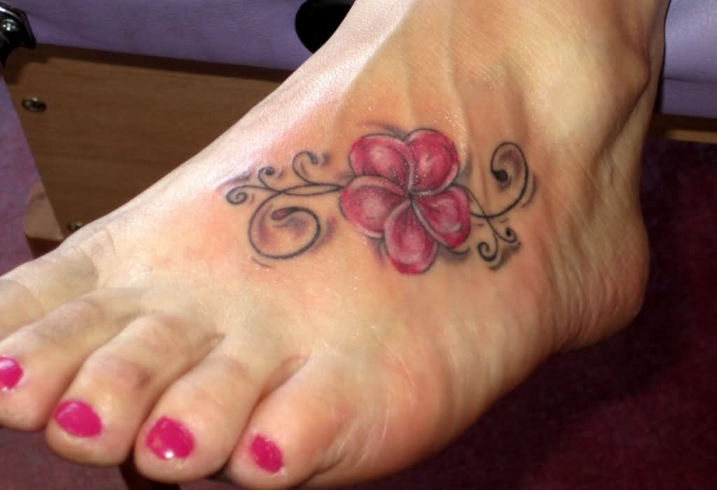 36 beautiful hawaiian flower tattoos for Pink ink tattoo