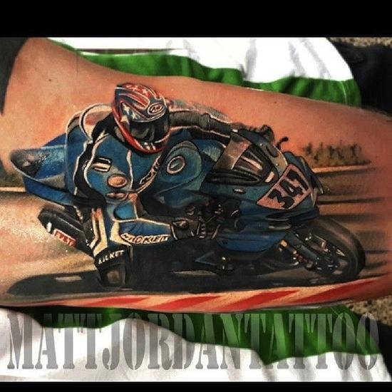 28 Fantastic Motorcycle Tattoos
