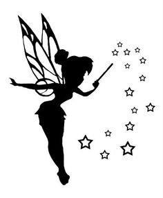 16 tinkerbell silhouette tattoos. Black Bedroom Furniture Sets. Home Design Ideas
