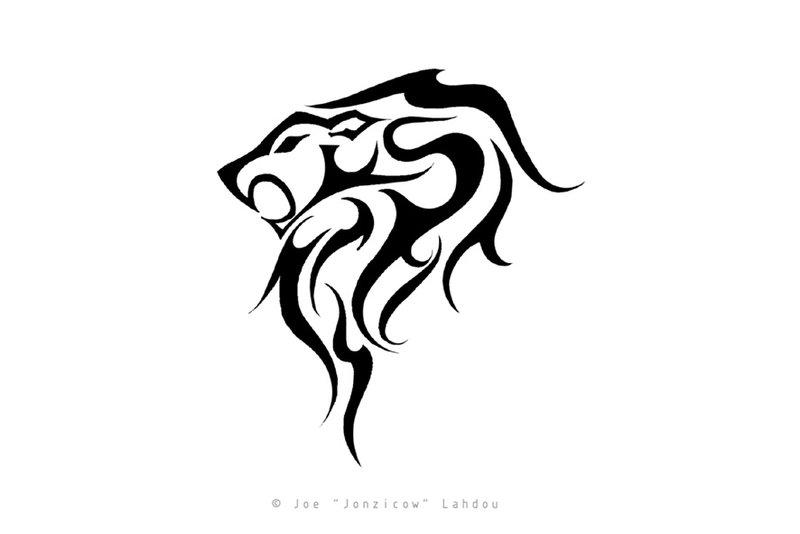 Tribal Leo Tattoo Stencil By Joe Lahdou