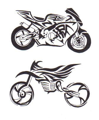 5 motorbike tattoos designs. Black Bedroom Furniture Sets. Home Design Ideas