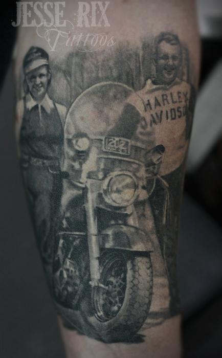 28 fantastic motorcycle tattoos. Black Bedroom Furniture Sets. Home Design Ideas