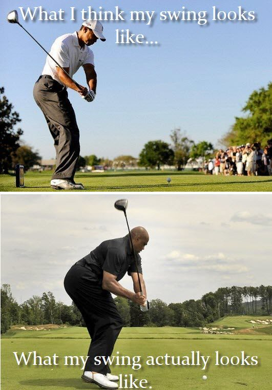 What I Think My Swing Looks Like Funny Golf Meme Image