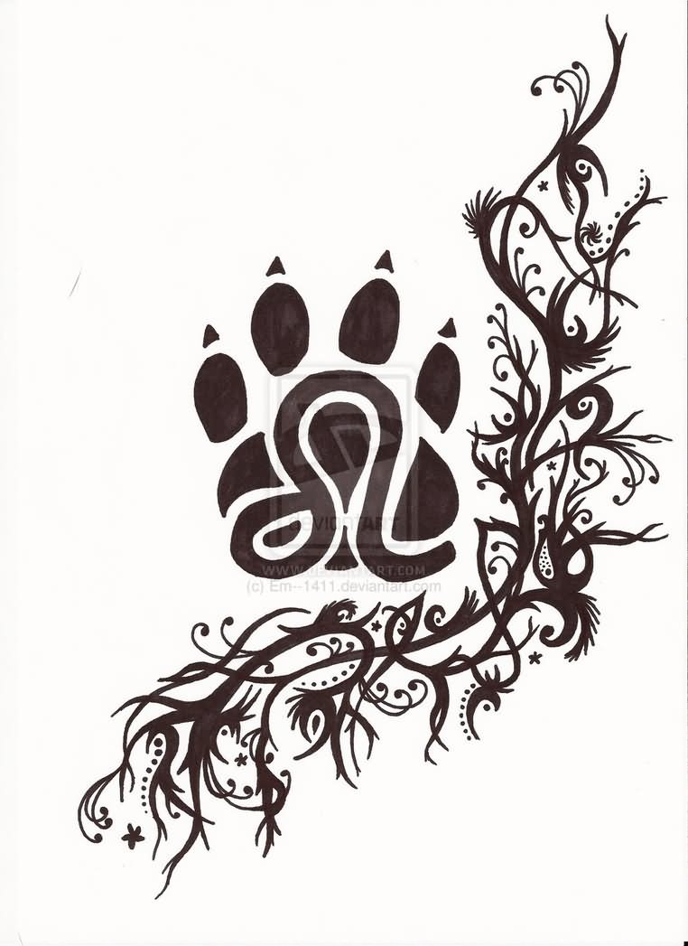 37 latest leo tattoo designs zodiac leo symbol in paw tattoo design biocorpaavc