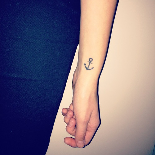 27 Anchor Tattoos On Wrist For Girls