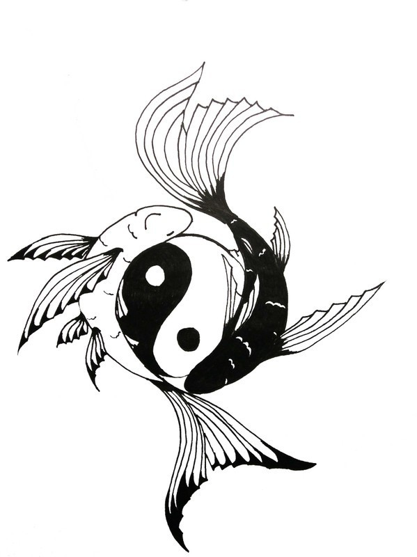 23 yin yang fish tattoos. Black Bedroom Furniture Sets. Home Design Ideas