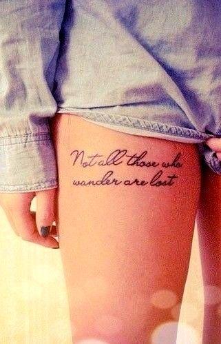 48 feminine script tattoos