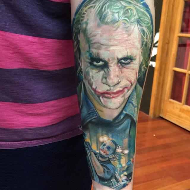 30 awesome heath ledger joker tattoos for The joker tattoo