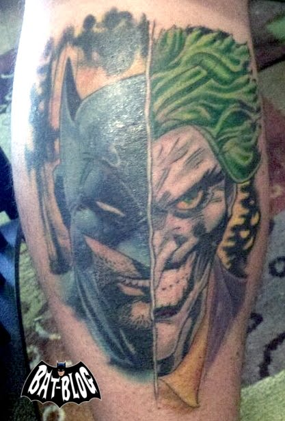 38 batman joker tattoos for Joker batman tattoo