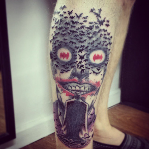 22 nice joker tattoos on leg for Joker batman tattoo