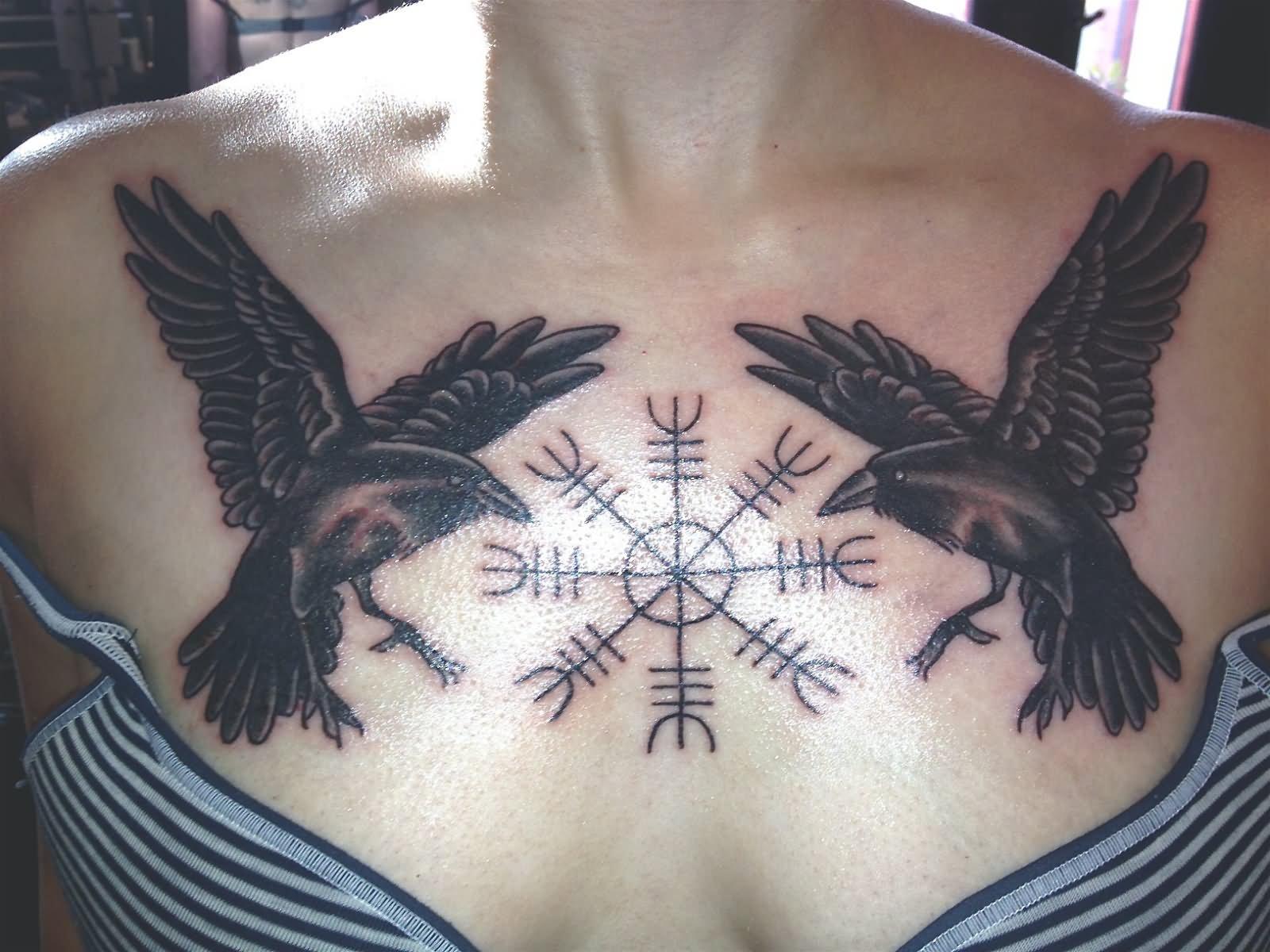 22 Best Norse Raven Tattoos
