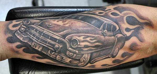 50 awesome car tattoos. Black Bedroom Furniture Sets. Home Design Ideas