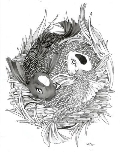 30+ Yin Yang Fish Tattoo Designs