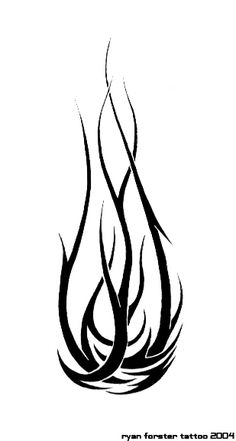 black tribal fire and flame tattoo stencil by sethius rh askideas com tribal fire tattoo images tribal fire dragon tattoos designs