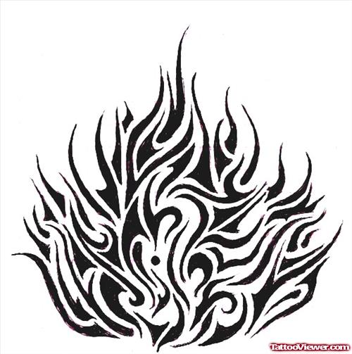 23 latest fire and flame tattoo designs and ideas for Tribal flames tattoo