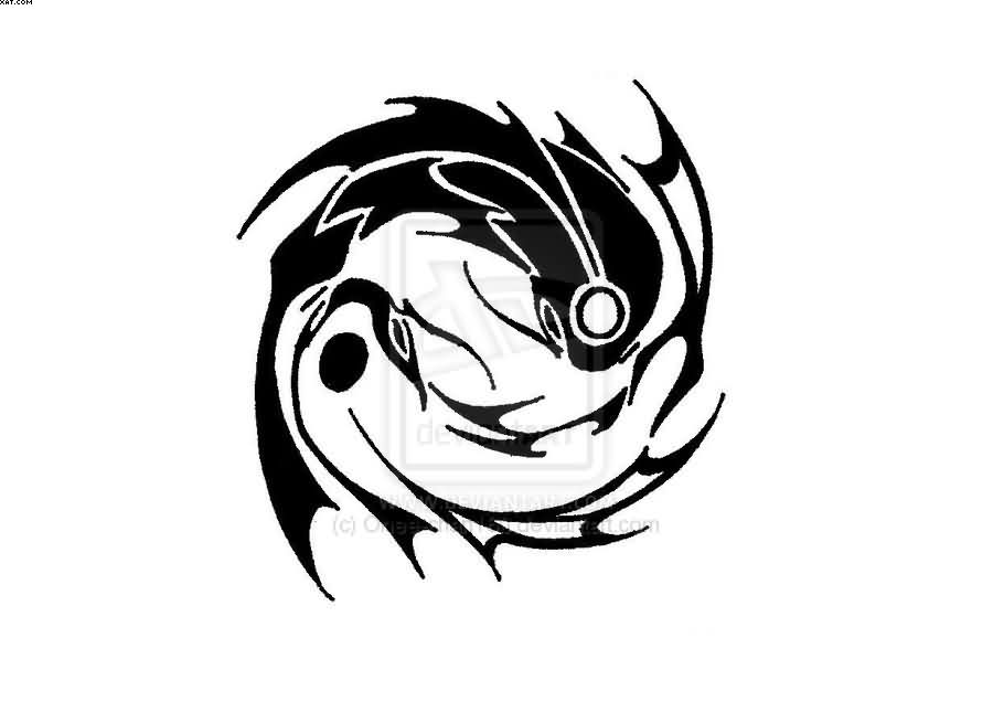 Tribal yin yang fish tattoo pictures to pin on pinterest for Architecture yin yang