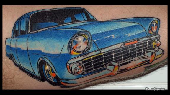 50 Awesome Car Tattoos