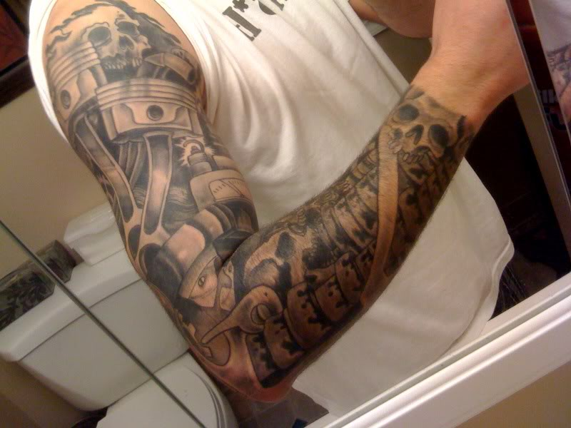 23 nice car tattoos on sleeve