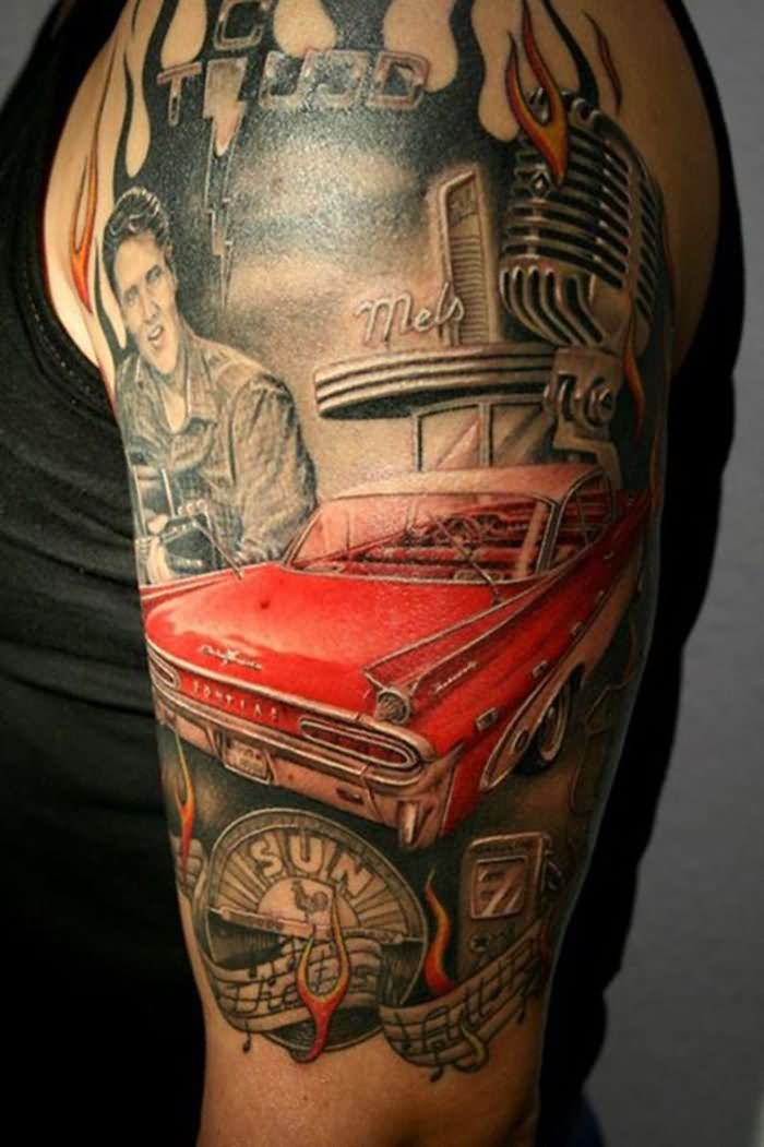 20 amazing car themed tattoos. Black Bedroom Furniture Sets. Home Design Ideas