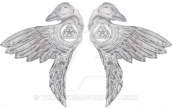 35 Odin S Raven Tattoo Designs Images And Pictures,Minimalist Beach House Interior Design Ideas