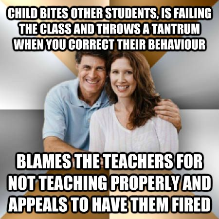 Child Bites Other Students Funny Parents Meme Image