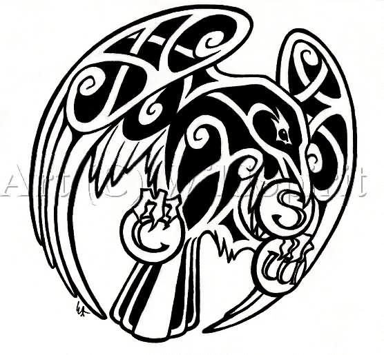 Cletic Norse Raven Tattoo Design By Wildspiritwolf,Minimalist Beach House Interior Design Ideas