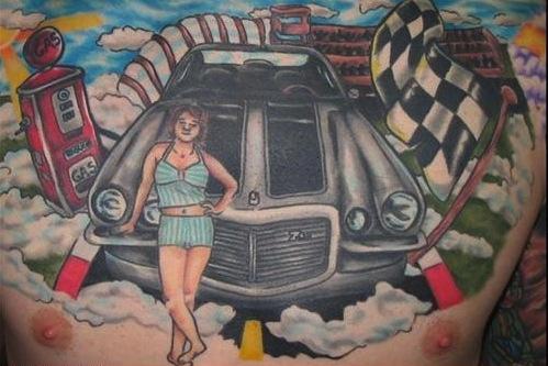 car parts tattoos