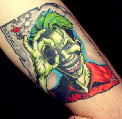 Batman Joker Card Tattoo 34+ Joker Card Tattoos