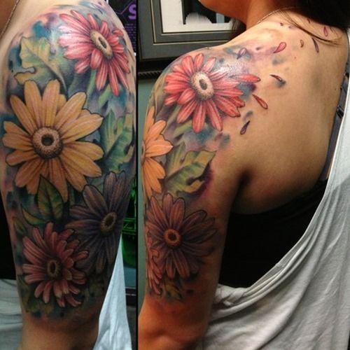 Feminine Flower Tattoo Designs: 24+ Best Feminine Sleeve Tattoos