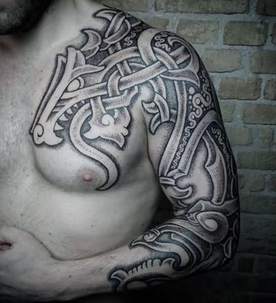 1dc83b82d494d Black And Grey Gun Tattoo On Arm Sleeve by Daniel Rocha