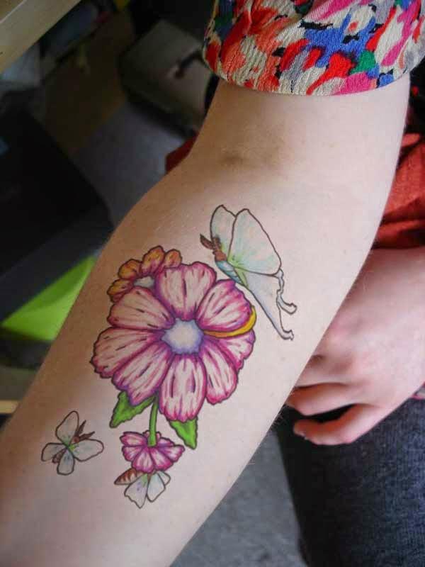 black ink feminine roses tattoo on design for side rib. Black Bedroom Furniture Sets. Home Design Ideas