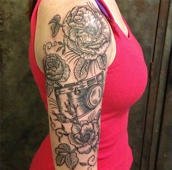 24 best feminine sleeve tattoos for Feminine music tattoos