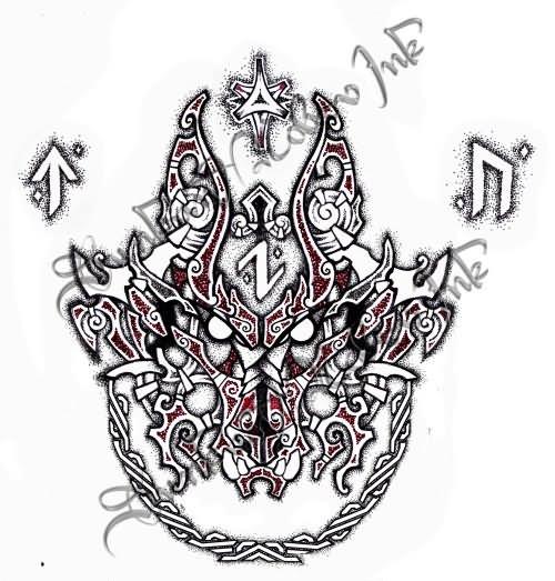 c3f1c4320 Fenrir Tattoo Design by Ebonshireforest