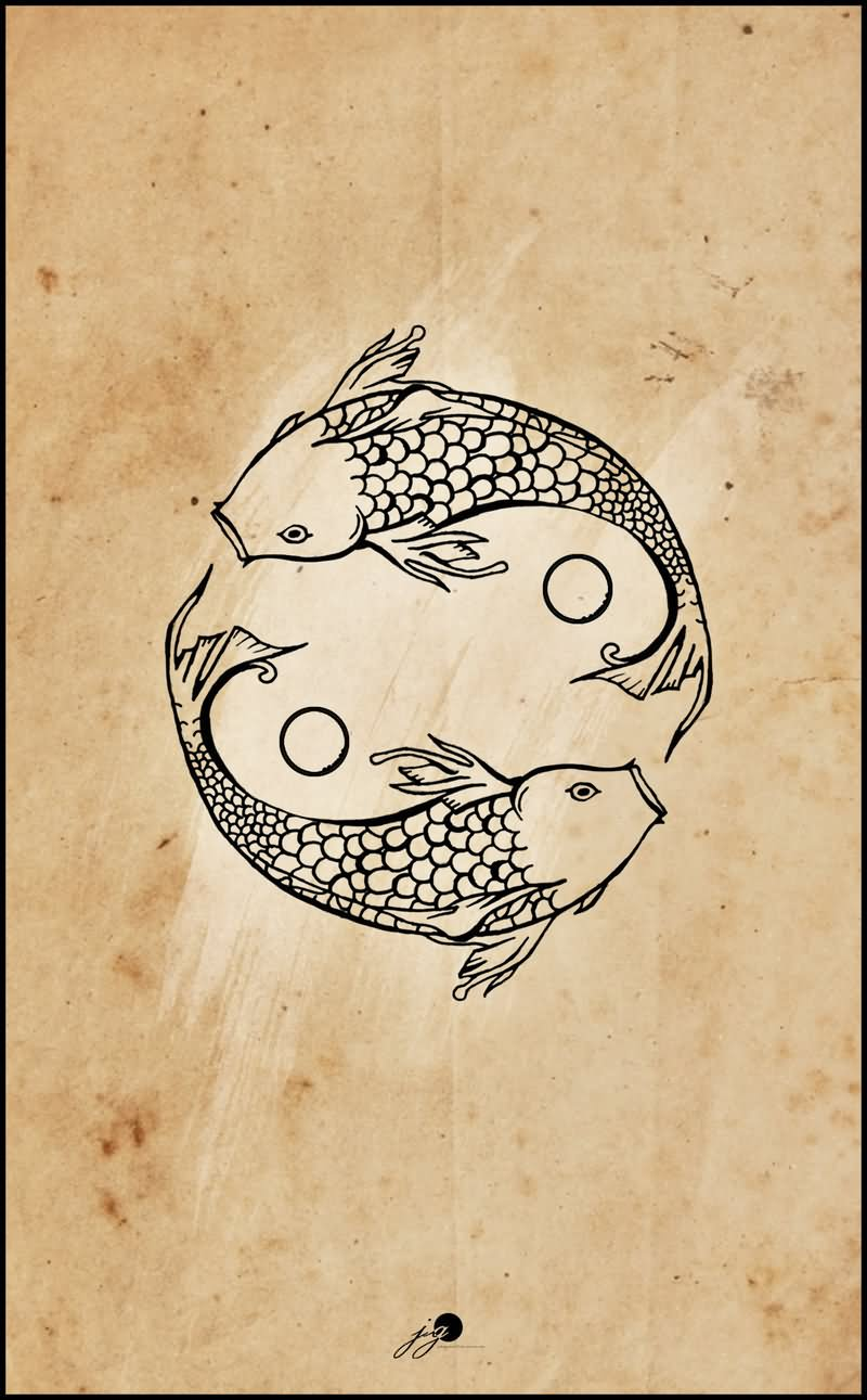 30 yin yang fish tattoo designs for Yin yang fish tattoo