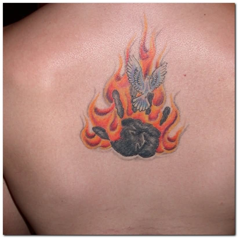 13 fire and flame tattoos on shoulder. Black Bedroom Furniture Sets. Home Design Ideas