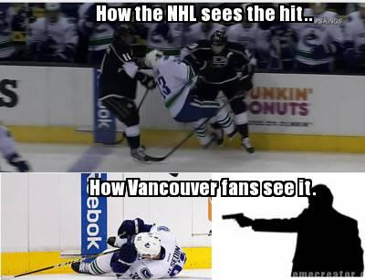 Funny Hockey Meme How The Nhl Sees The Hit Image 45 very funny hockey meme pictures and images