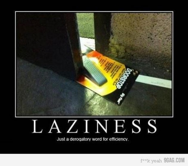 funny laziness meme poster