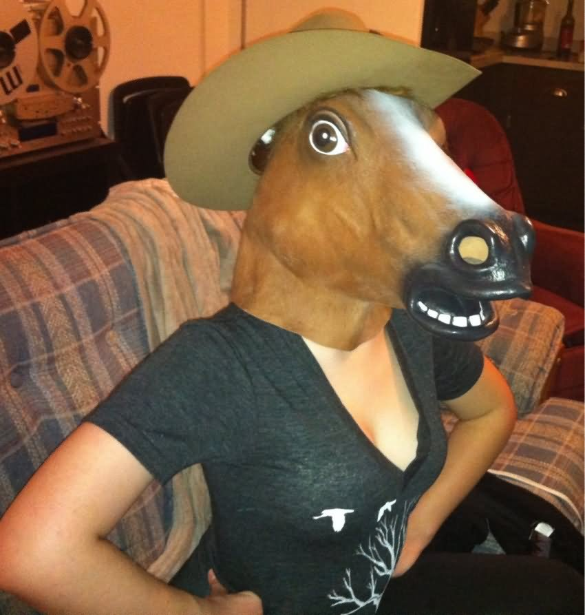 Girl With Horse Face Funny Photo