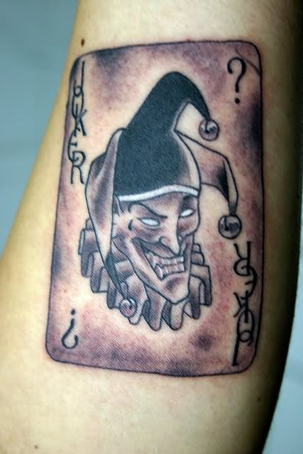 Joker Card Tattoo - Tattoo Collections
