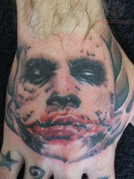 Joker Hand Tattoos: 30+ Awesome Heath Ledger Joker Tattoos
