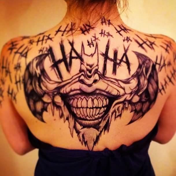 Superman Tattoo Designs For Girls Joker Face In Bat Tatt...