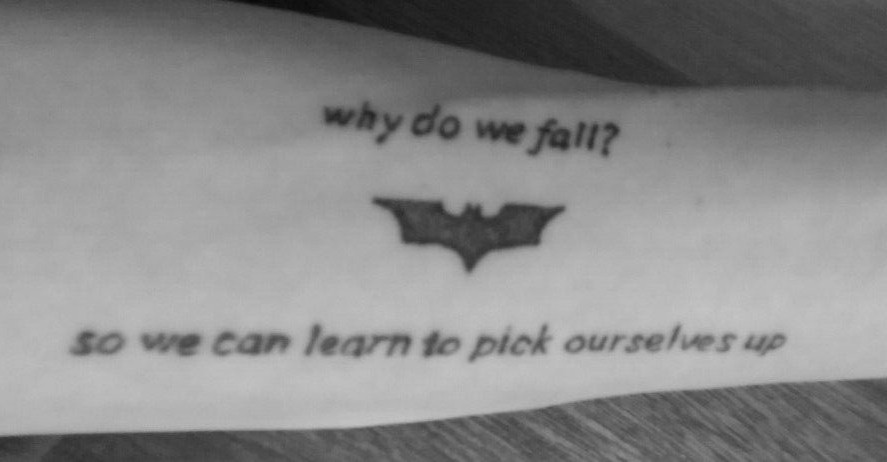 a1c357a8fa097 Joker Quote Tattoo On Forearm