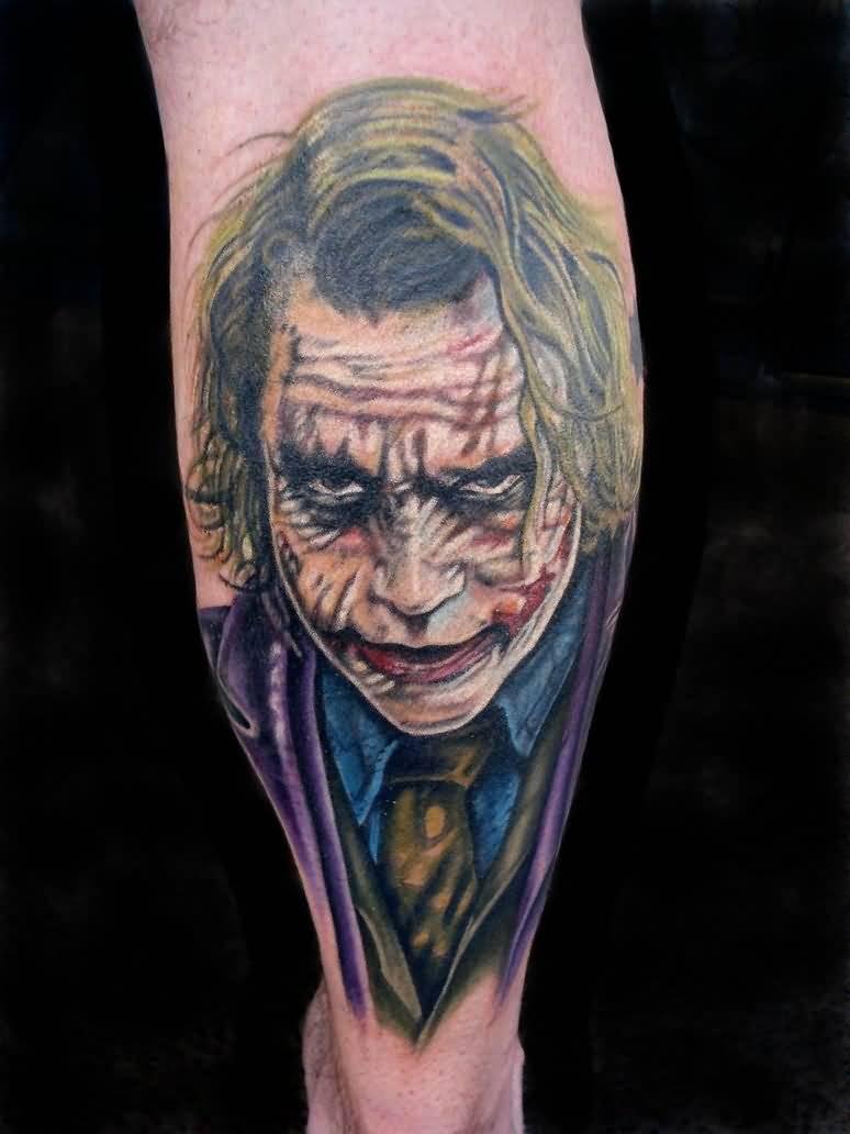 22 nice joker tattoos on leg for The joker tattoo