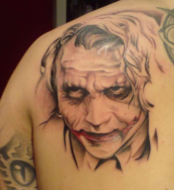 30 awesome heath ledger joker tattoos. Black Bedroom Furniture Sets. Home Design Ideas